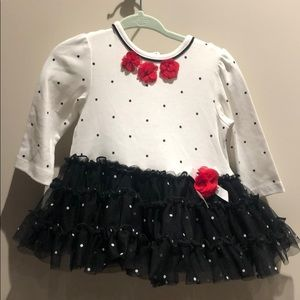 NWT Little Me - tutu dress with polka dots! 9 mos